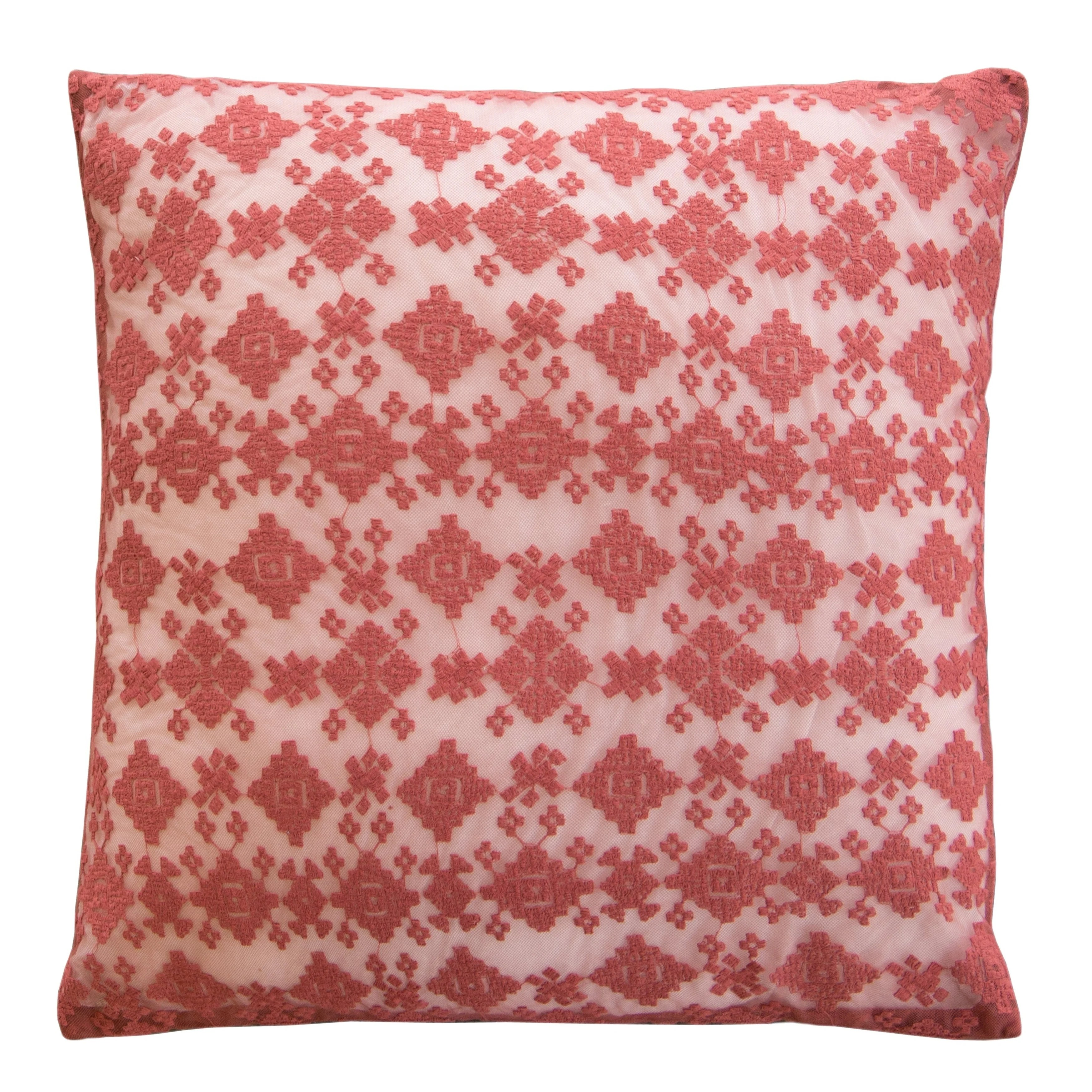 lace euro pillow cover 26x26 cover only garnet diamond