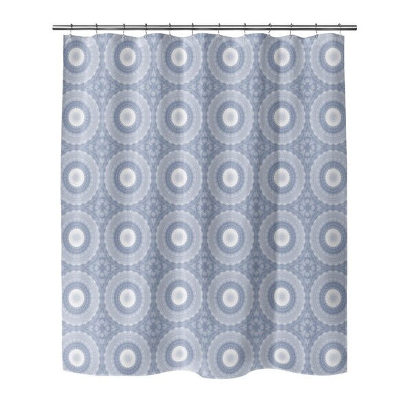 carson carrington ingelstrade geometric blue shower curtain