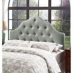 Shop Brighton King Size Grey Fabric Upholstered Button Tufted Headboard On Sale Overstock 28355274