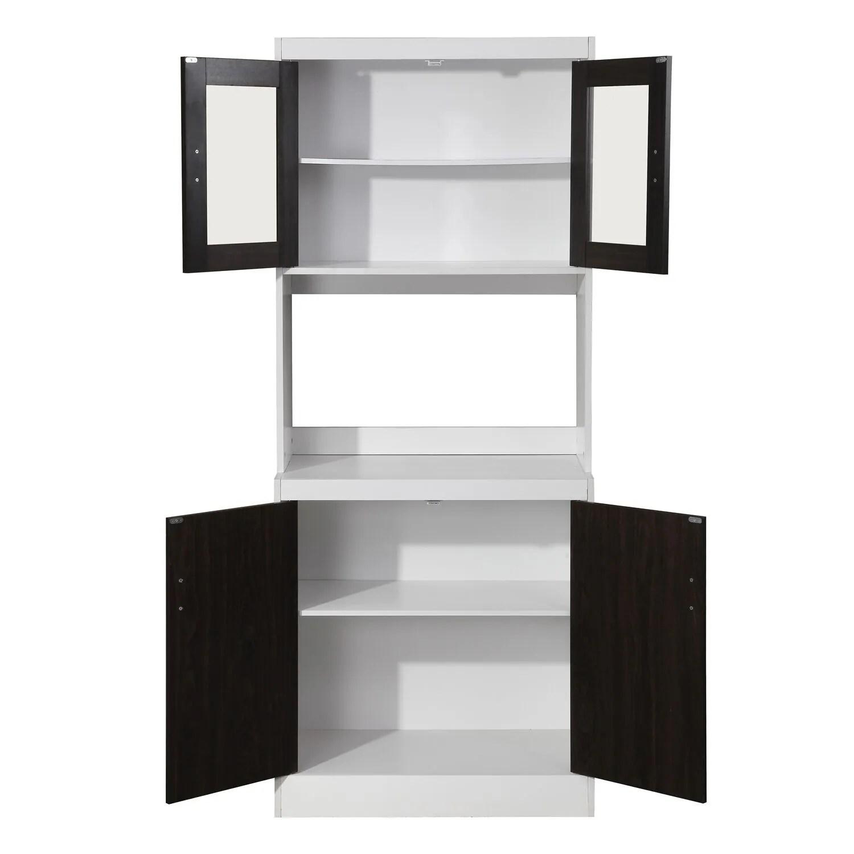 aaronsburg black kitchen organization microwave cabinet