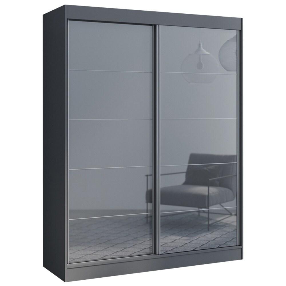 aria 2 door 47 59 wide modern high gloss wardrobe armoire
