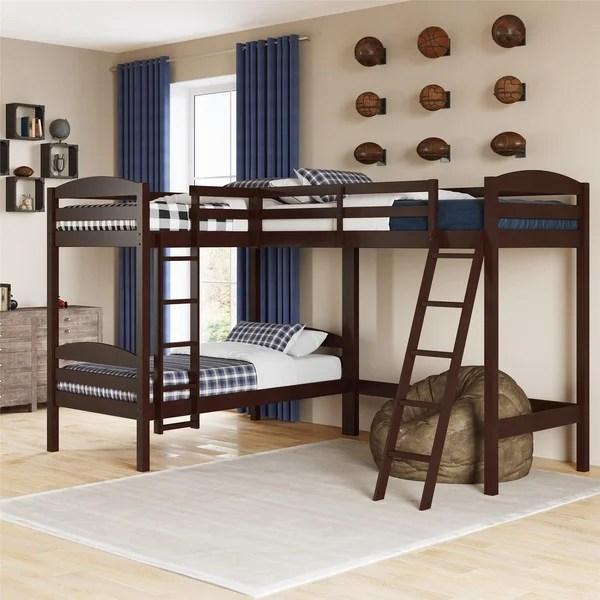 l shaped bunk kids toddler beds