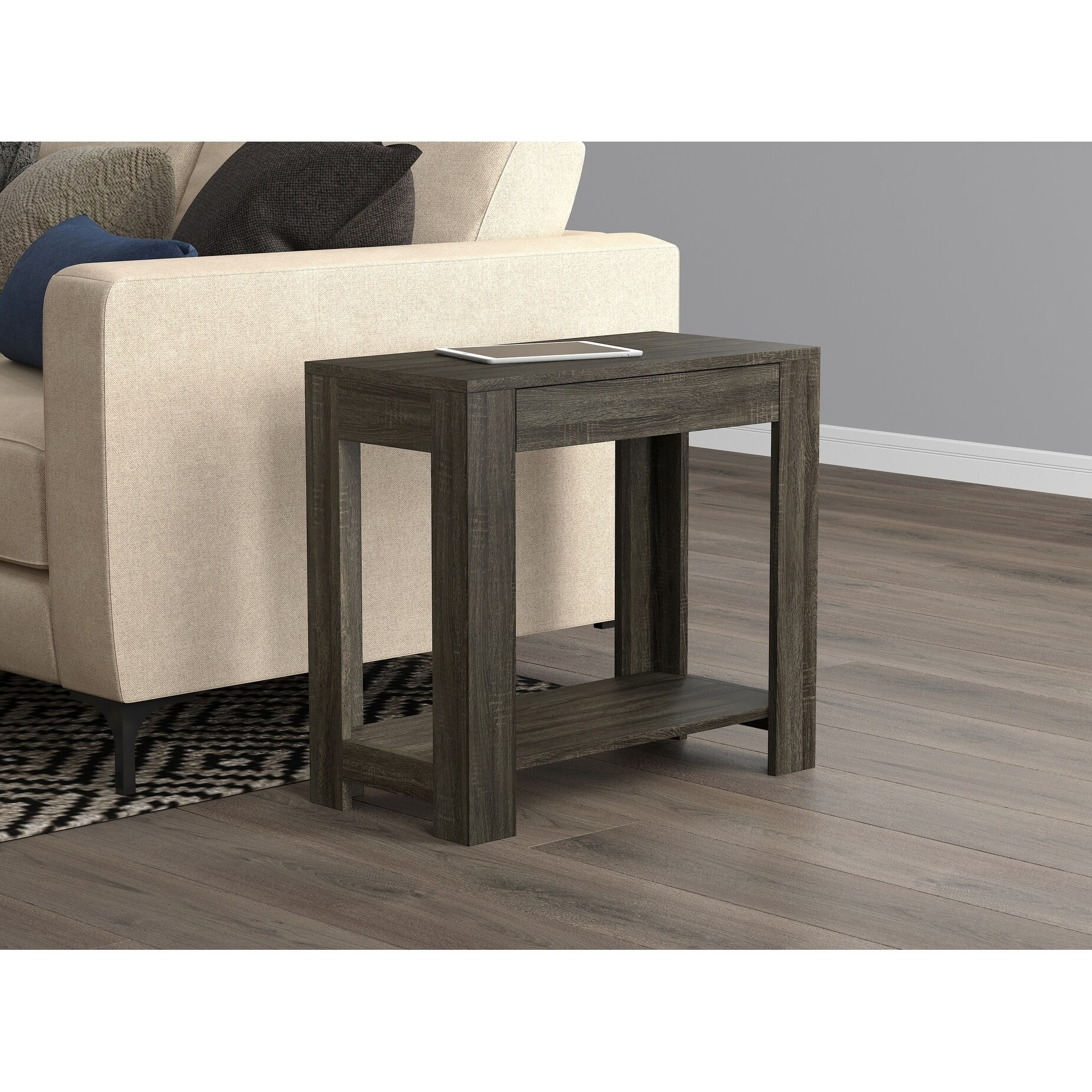 Shop Accent Table Grey With Drawer On Sale Free Shipping Today Overstock 28529639