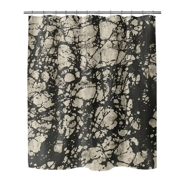 marble black small shower curtain by kavka designs
