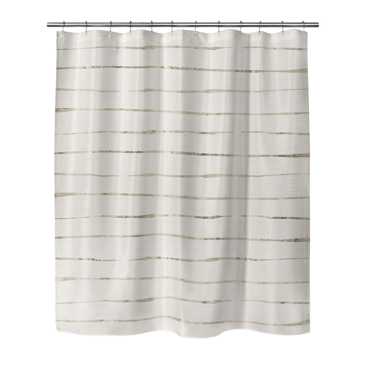 wavy abyss ivory small shower curtain by kavka designs