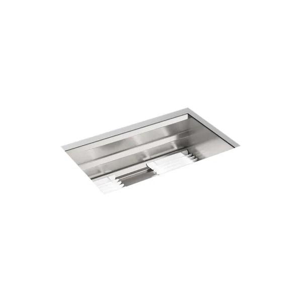 kohler prolific 29 x 17 3 4 x 10 15 16 undermount single bowl kitchen sink with accessories k 23651 na