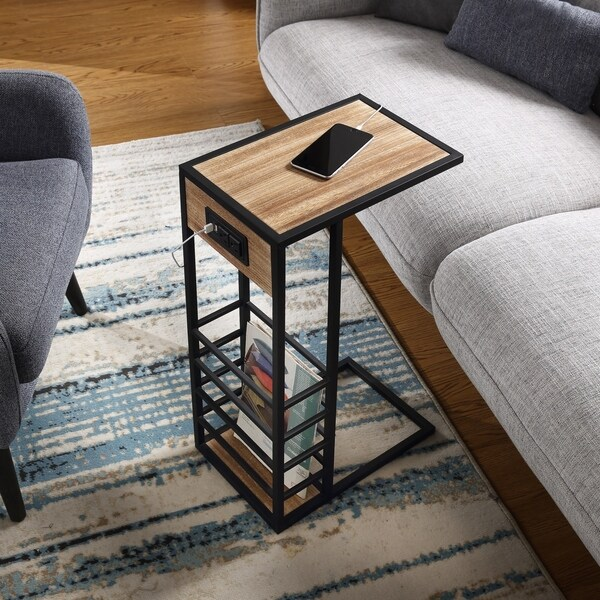 carbon loft abidin c table with usb