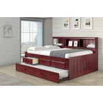 Full Bookcase Captains Daybed With 3 Drawer Storage Twin Trundle