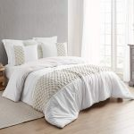 Knit And Loop Textured Oversized Comforter Almond Cream Shams Not Included On Sale Overstock 29003793
