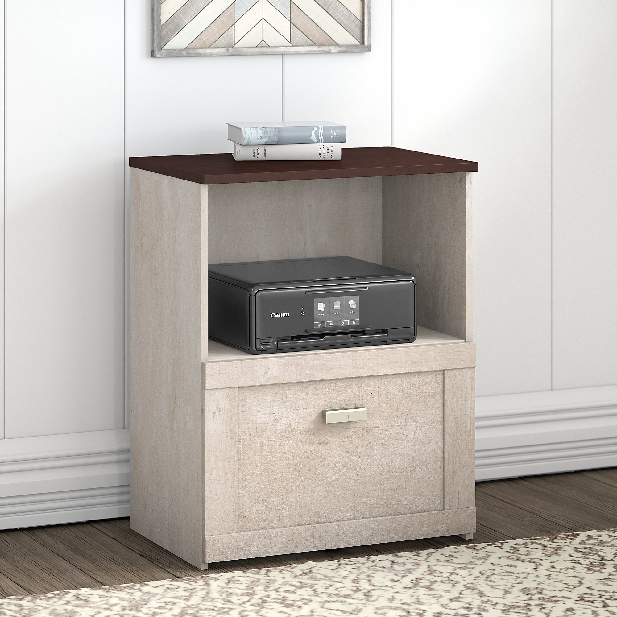 Porch Den Skyhar Washed Grey Cherry Lateral File Cabinet Overstock 29018336