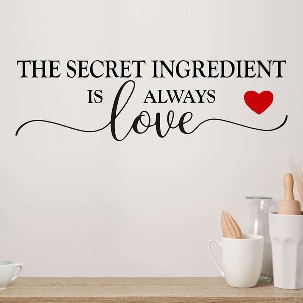 Download Shop Secret Ingredient is Always Love Vinyl Wall Decal ...