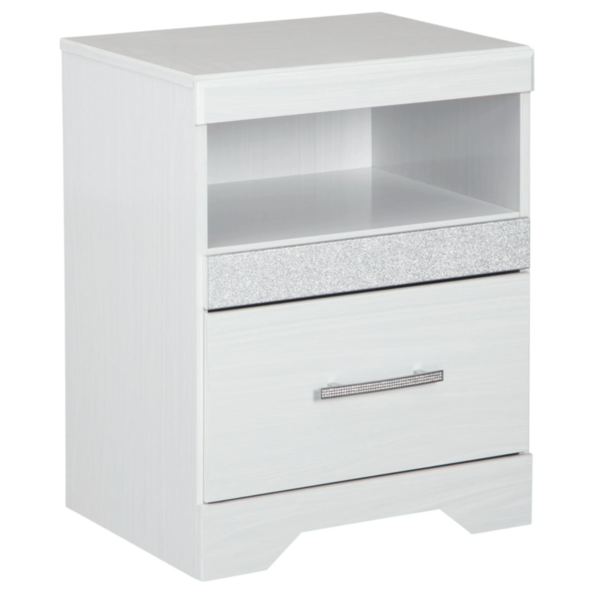 Jallory White One Drawer Nightstand
