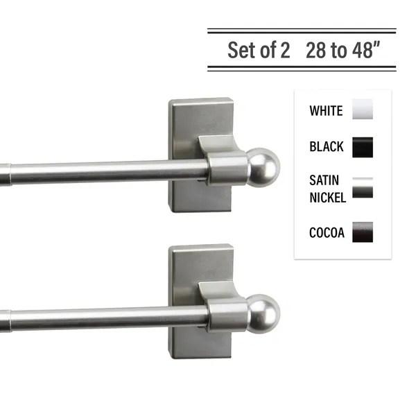 buy steel curtain rods hardware