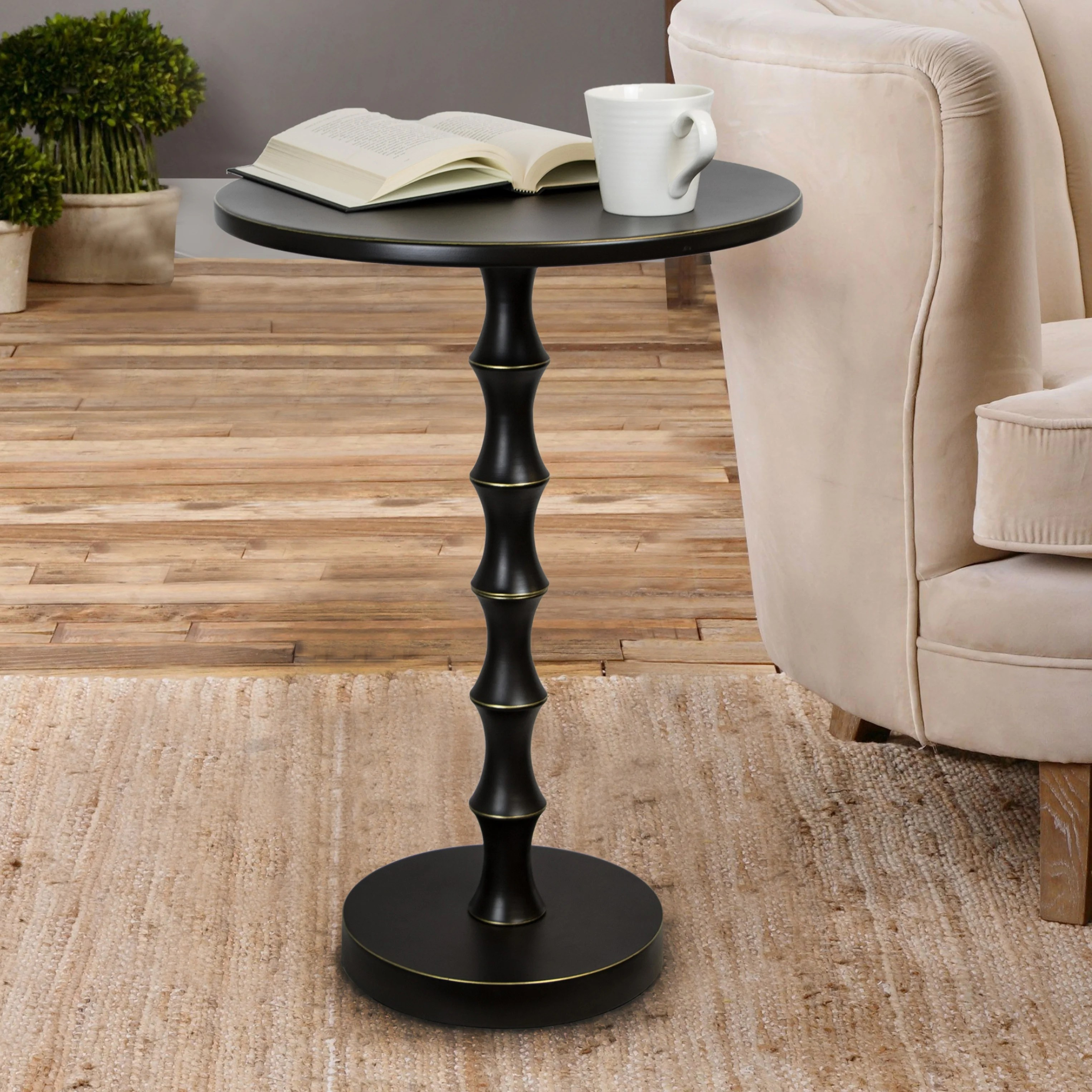 Shop Copper Grove Kalulushi 26 75 Inch Oiled Rubbed Bronze Metal Accent Table Overstock 29209217