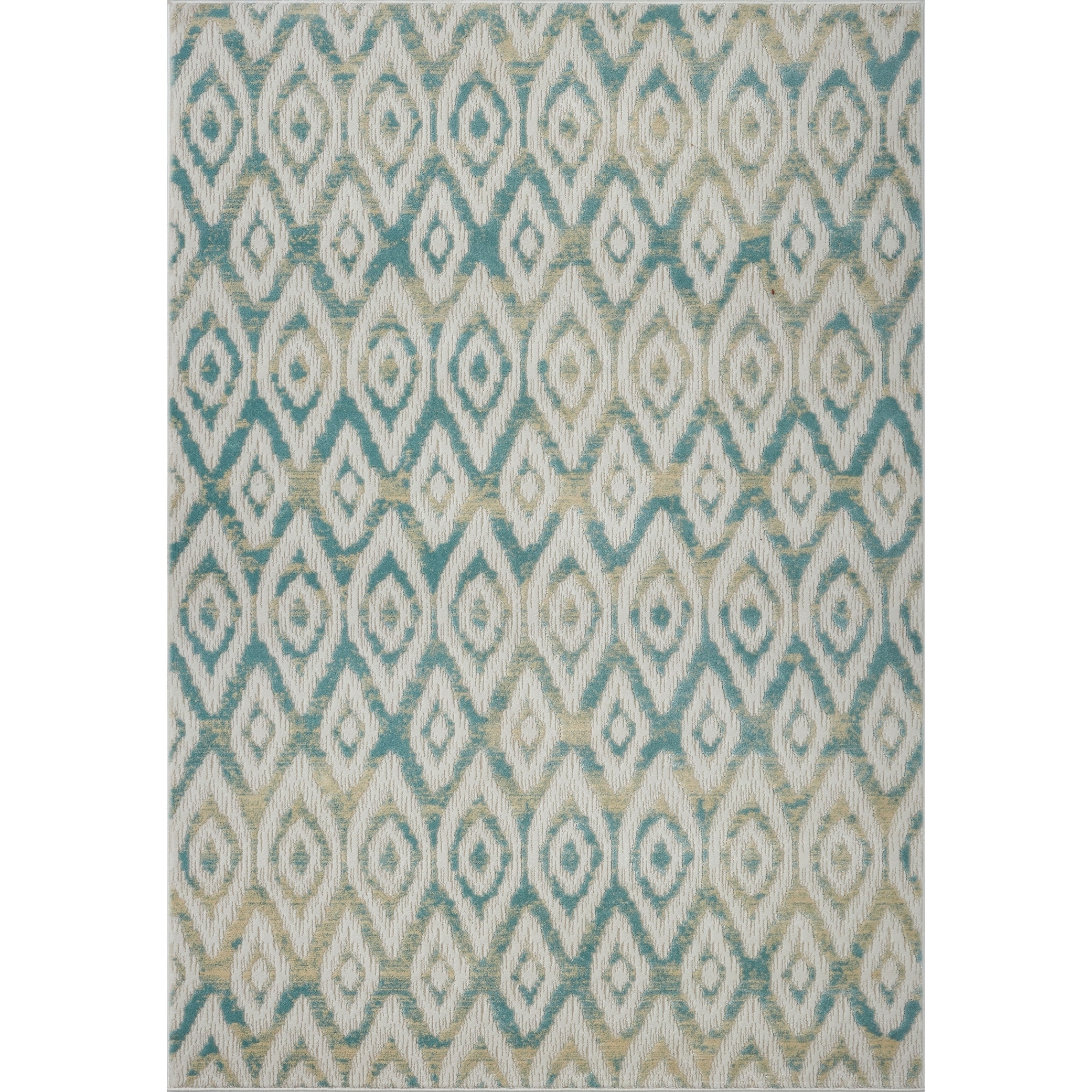 Ladole Rugs Bolivya Collection Geometric Modern Area Rugs In Blue