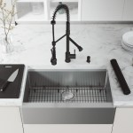Shop Black Friday Deals On Vigo 33 Oxford Stainless Steel Flat Apron Kitchen Sink Workstation With Matte Black Zurich Faucet Soap Dispenser Overstock 29401996