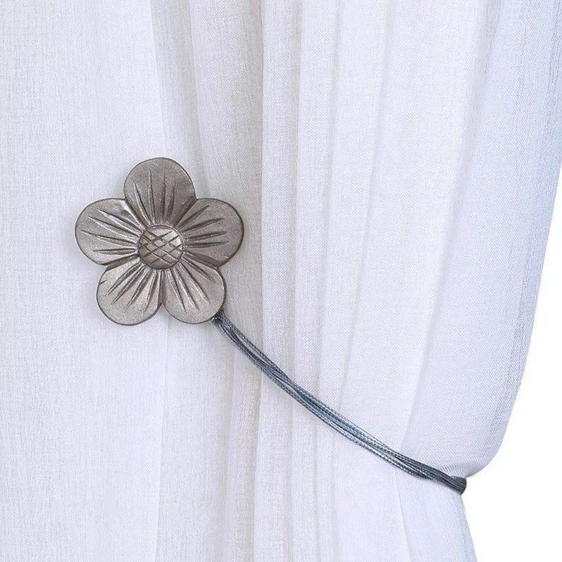 bad students merida flower shape magnetic curtain tie backs set of 2