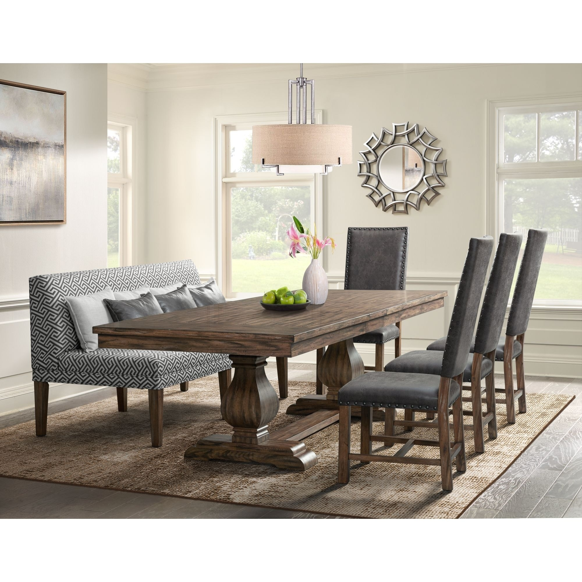 the gray barn coach ride 6 piece dining set with settee