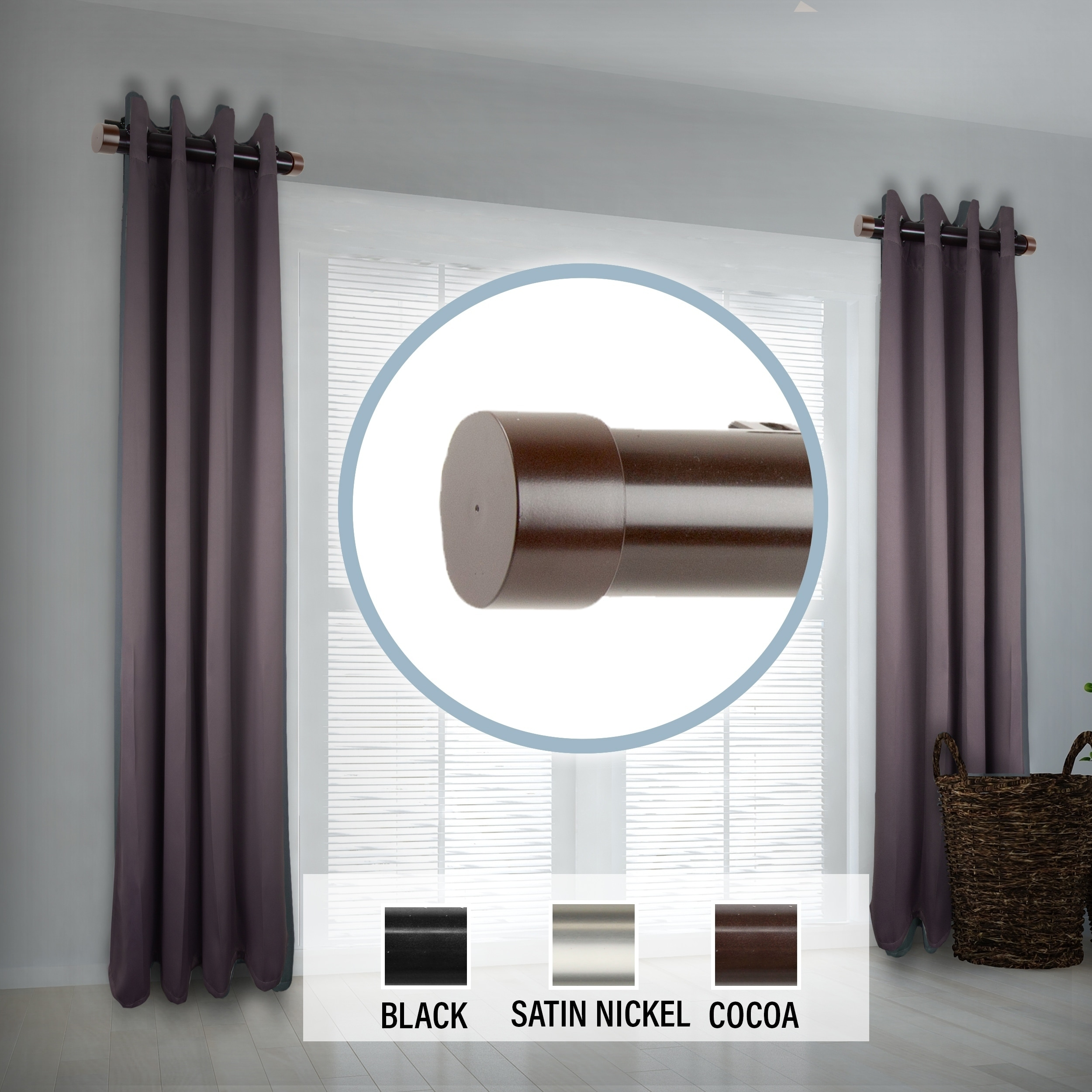 instyledesign 1 5 side curtain rod 12 20 inch long set of 2 12 to 20 inches