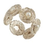 Beaded Napkin Rings With Pearl Design Set Of 4 Overstock 29774353