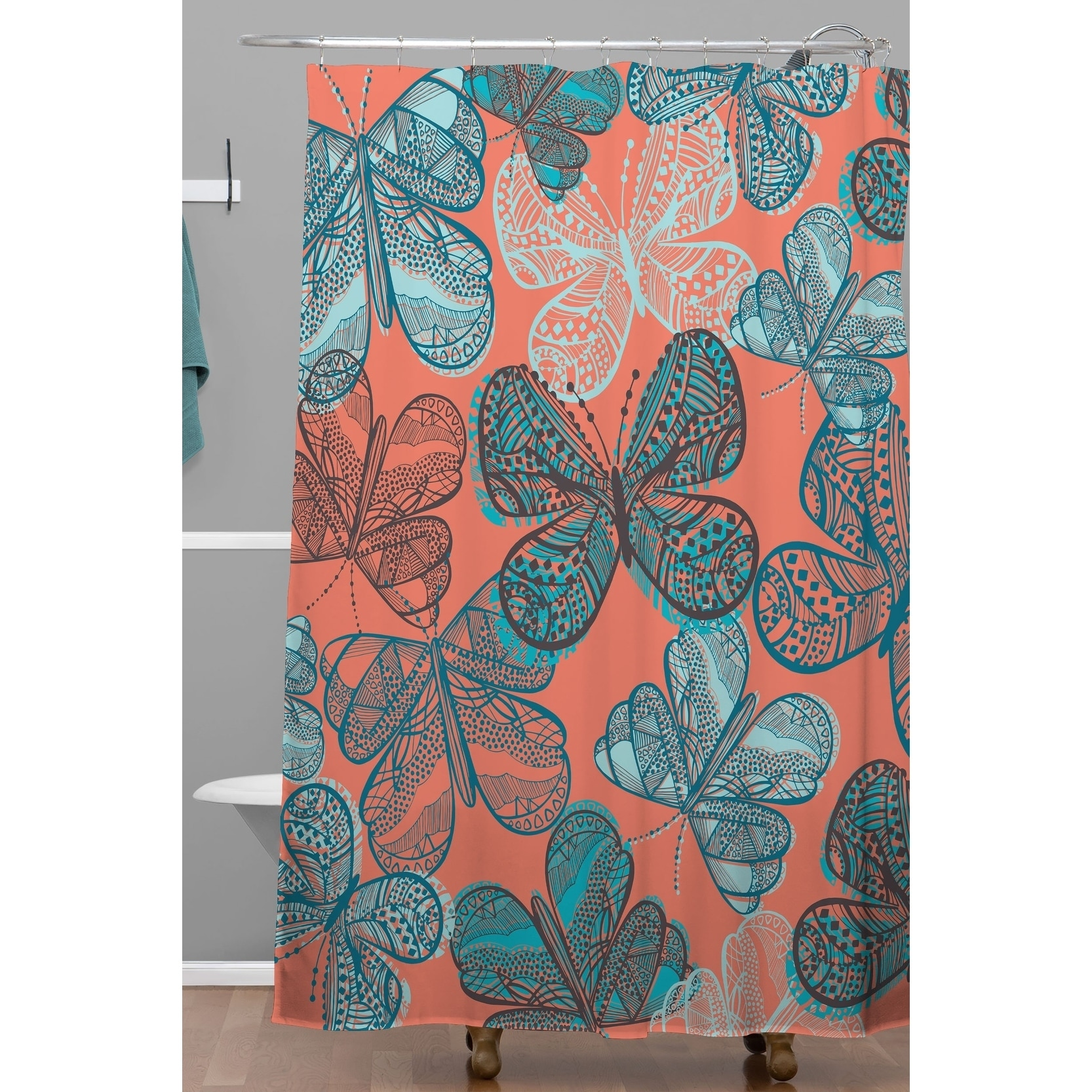 deny designs havana butterfly shower curtain