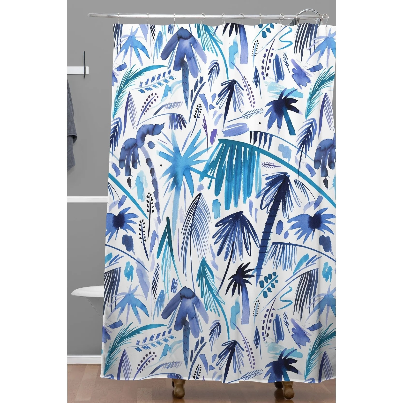 deny designs relaxing palms shower curtain
