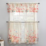 No 918 Rosalind Floral Watercolor Semi Sheer Rod Pocket Kitchen Curtain Valance And Tiers Set On Sale Overstock 29872369