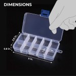 Clear Jewelry Box 12 Pack Plastic Bead Storage Container Earrings Organizer Overstock 30100047
