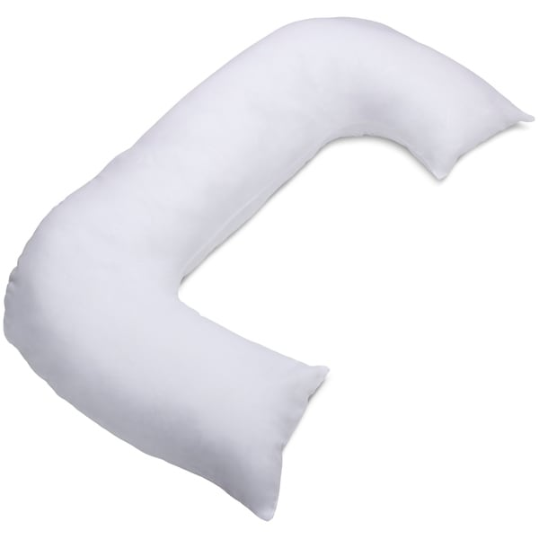 allergen free cover for c shaped full body pillow stain resistant pillow cover white