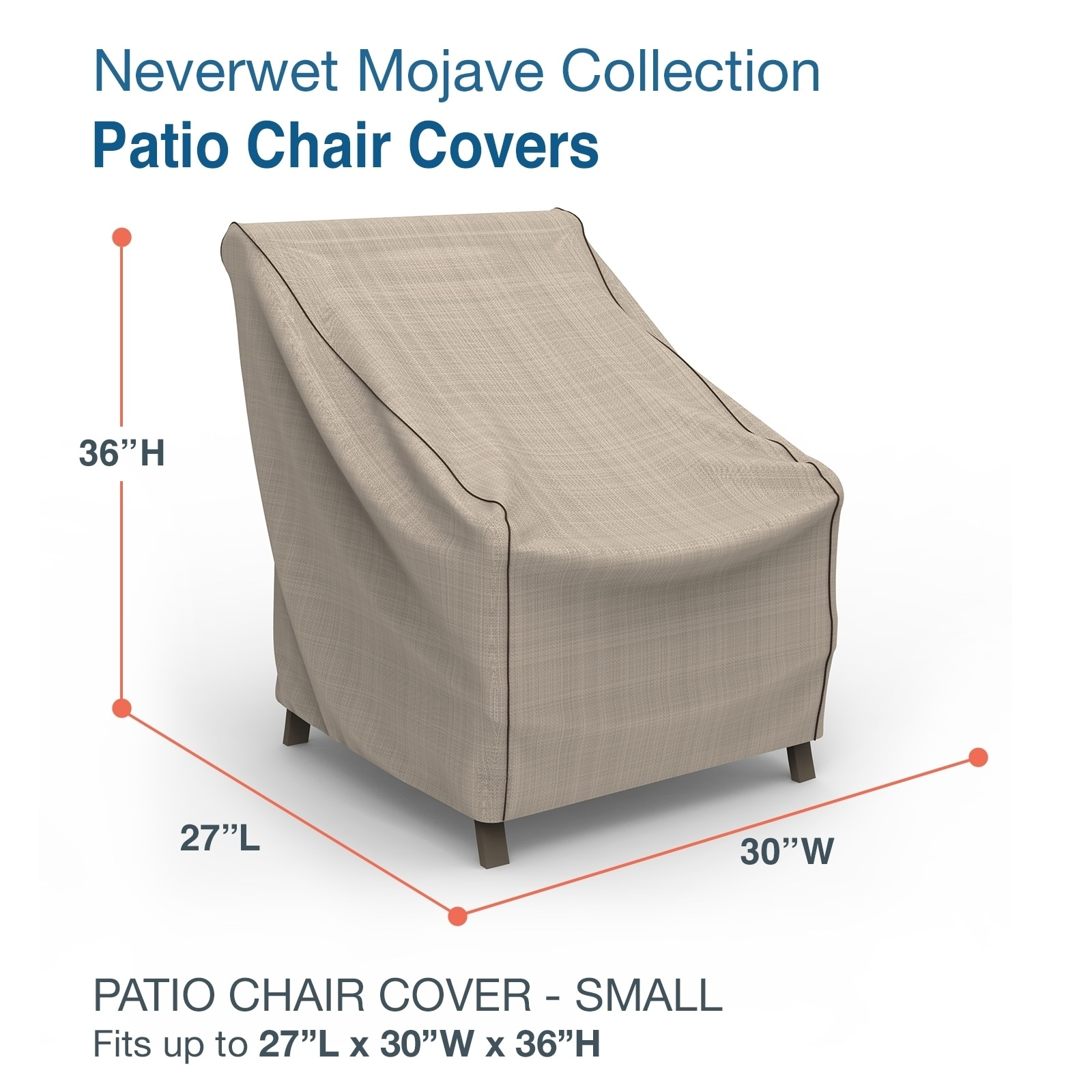 budge waterproof outdoor patio chair cover neverwet mojave black ivory multiple sizes