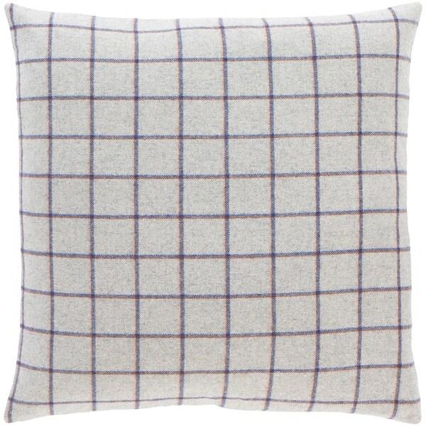 suri retro grey plaid throw pillow