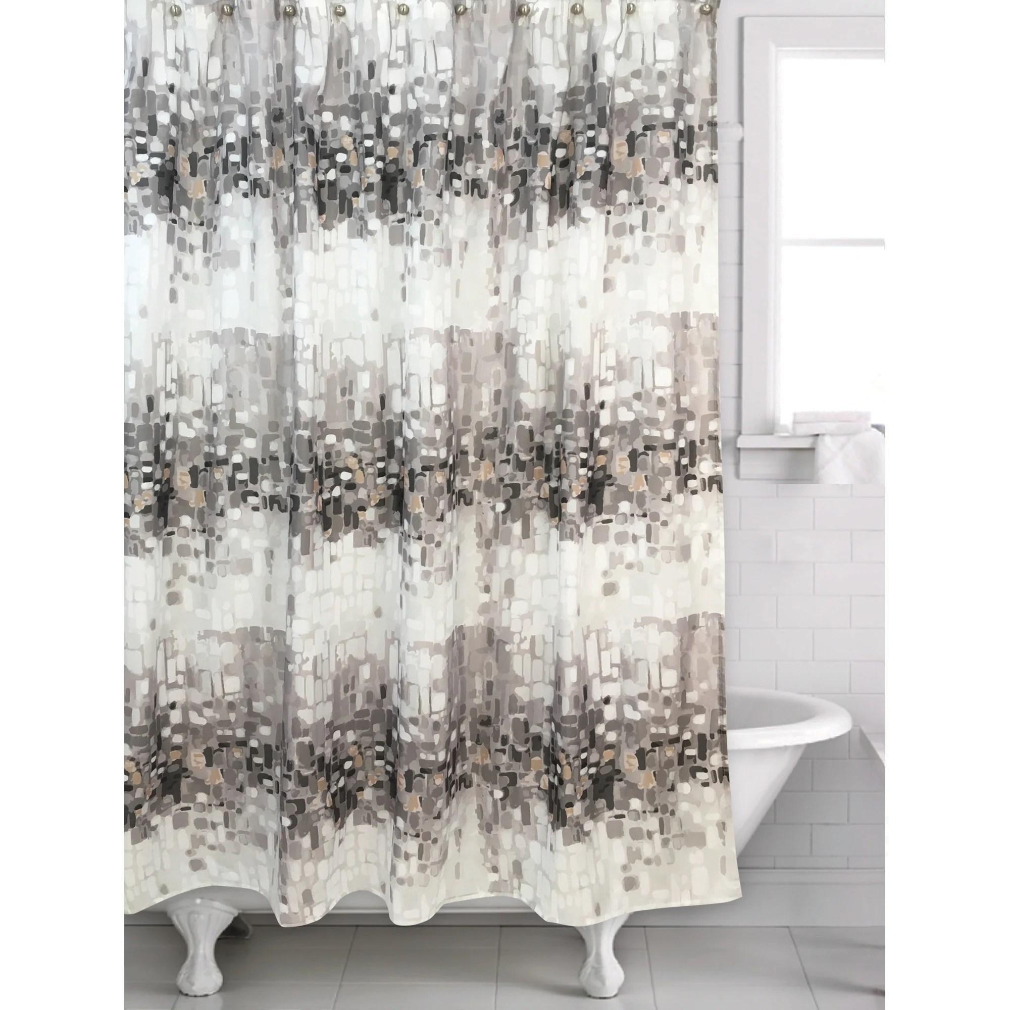 metro gold shower curtain