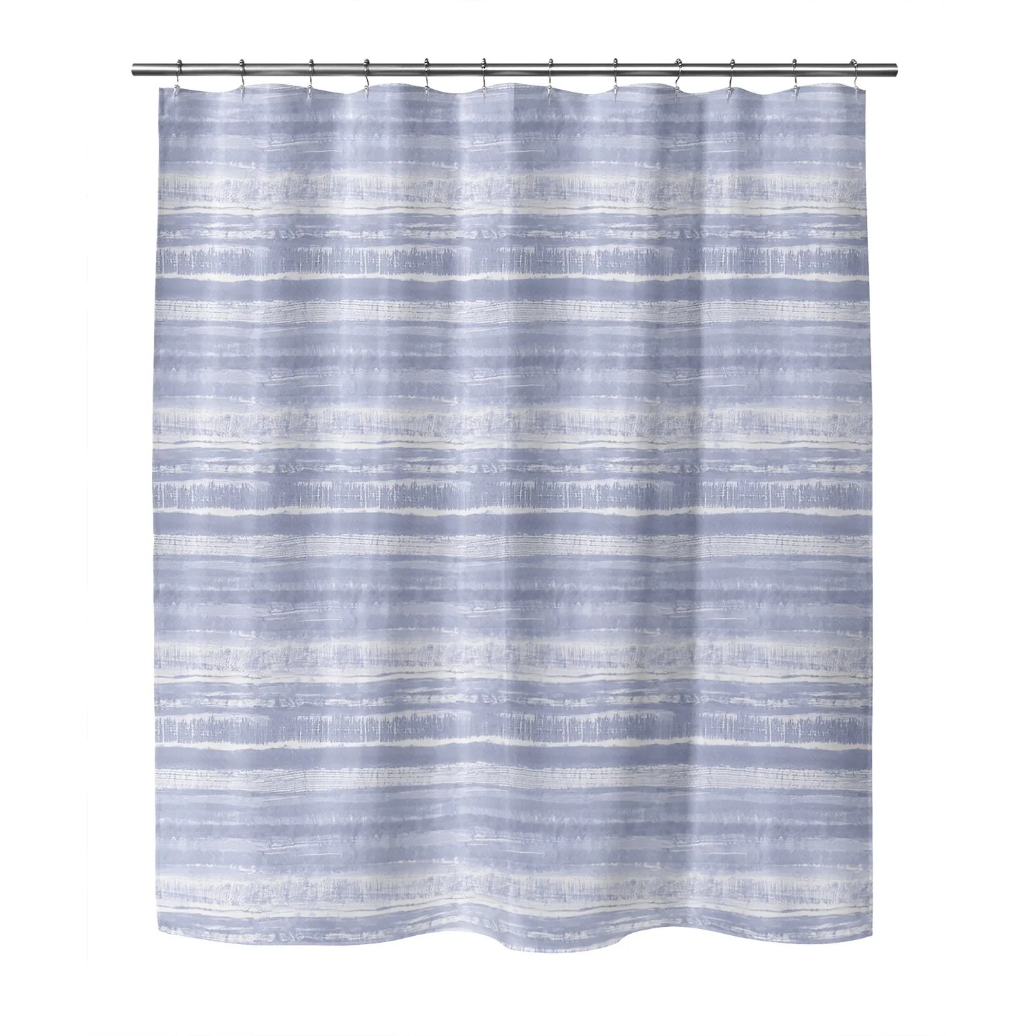 washy watercolor stripe periwinkle shower curtain by kavka designs