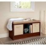 Porch Den Southbrook 3 Cube Storage Bench With Tan Cushion Overstock 30525962