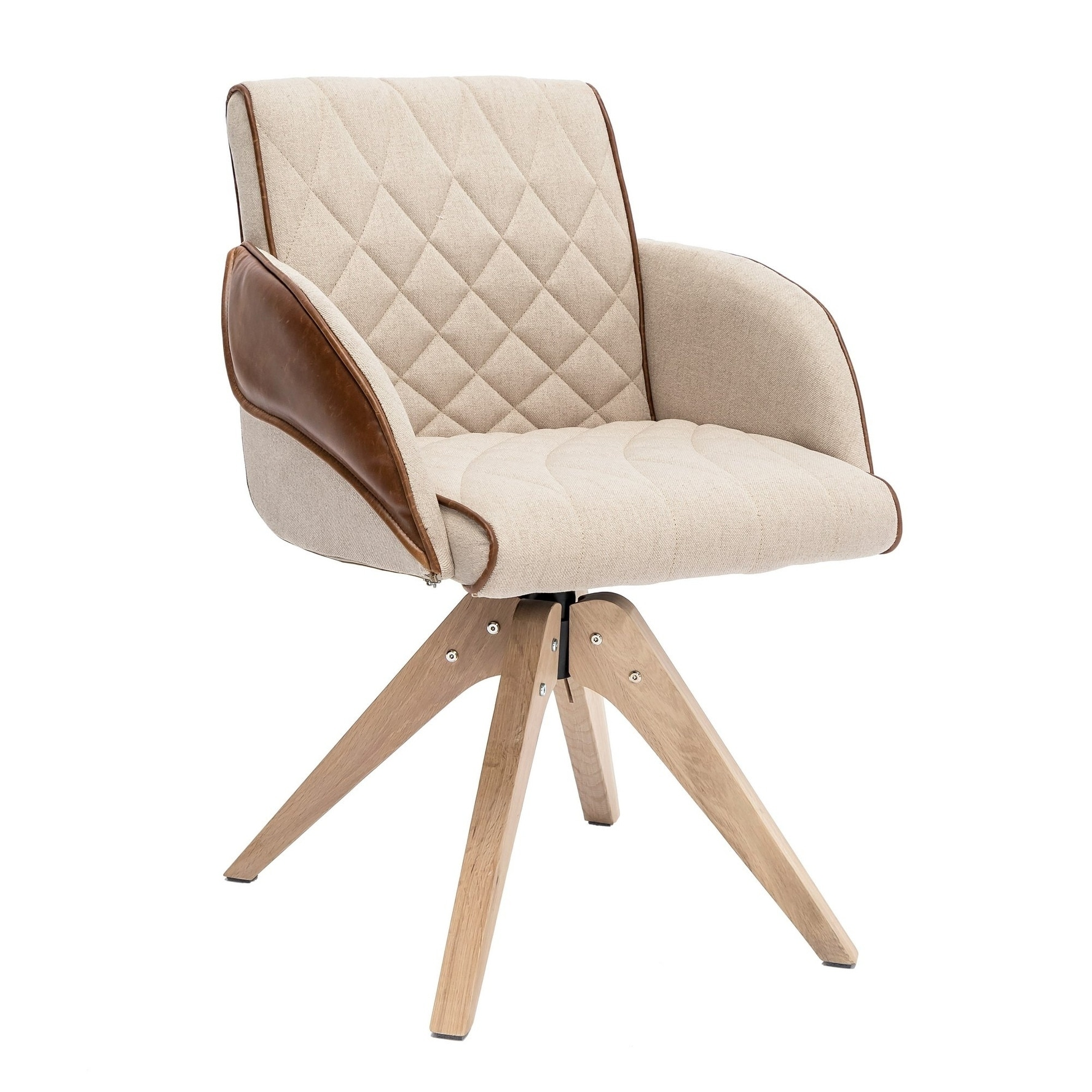 Shop Black Friday Deals On Swivel Accent Chair Beige Overstock 30566973