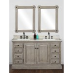 Rustic Style 60 Inch Double Sink Bathroom Vanity With Coastal Sand Marble Top No Faucet Overstock 30581124