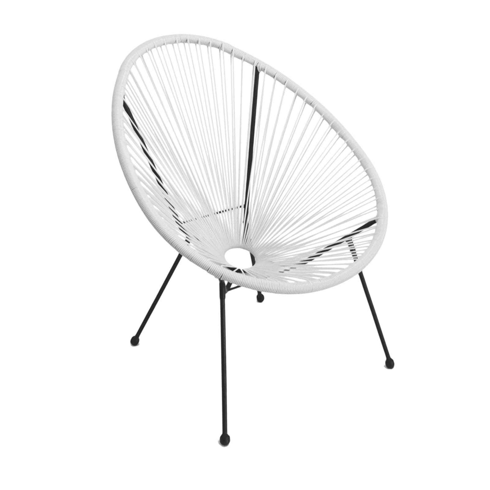 white acapulco outdoor patio chair single chair