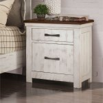 Furniture Of America Ynez Transitional Distressed White Nightstand On Sale Overstock 30978000