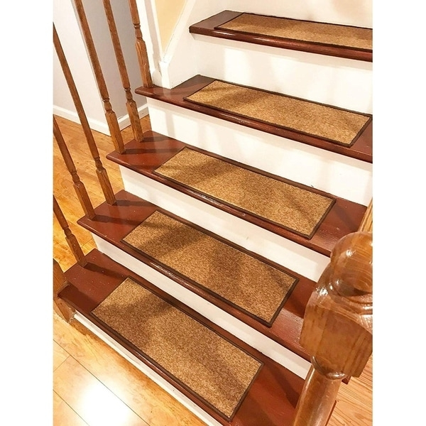 Shop Gloria Rug Stair Treads Non Slip 8 5X26 Overstock 31004542 | Gloria Rug Stair Treads | Mats | Area Rug | Stair Runners | Rubber Backing | Skid Resistant