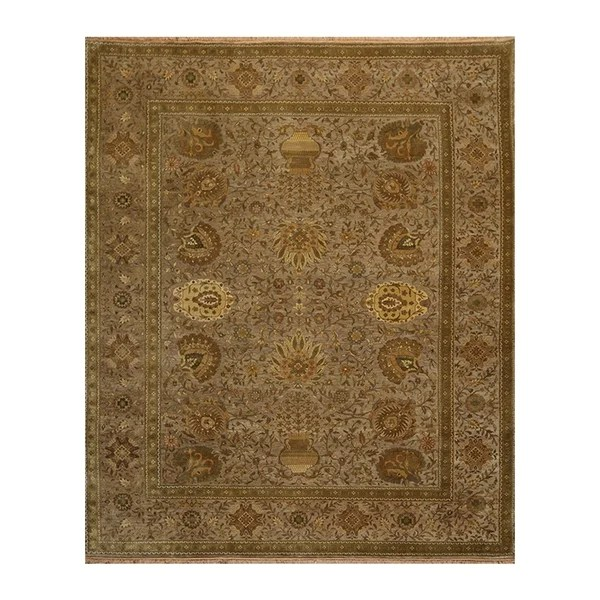 hand knotted 250 kpsi agra taupe sage wool persian oriental area rug 8x10 08 00 x 09 10