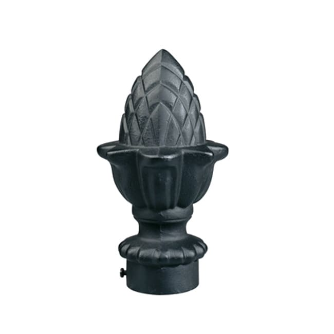 Shop Black 8 Foot Iron Drapery Rod With Pineapple Finials Free Shipping Today Overstock