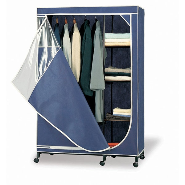 shop organize it all deluxe wardrobe storage armoire free shipping today overstock 3300236