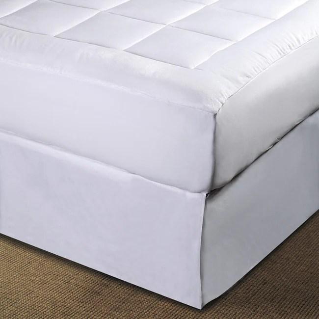 luxurious microplush pillow top mattress pad