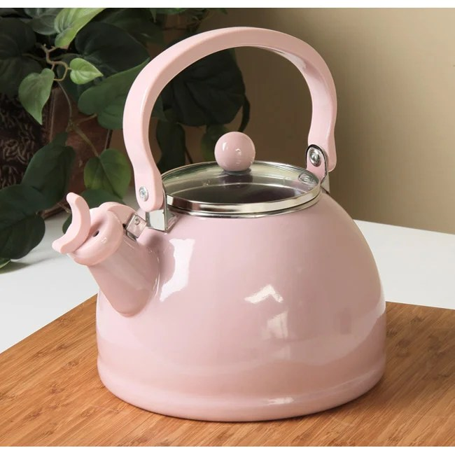 Shop Calypso Basics Pink Whistling Tea Kettle Free
