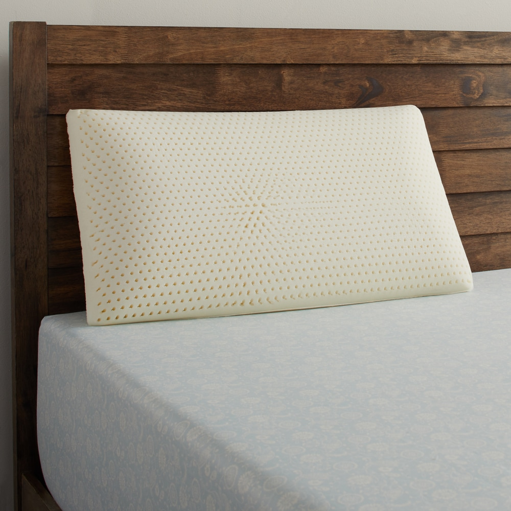beautyrest latex foam pillow with removable cover white