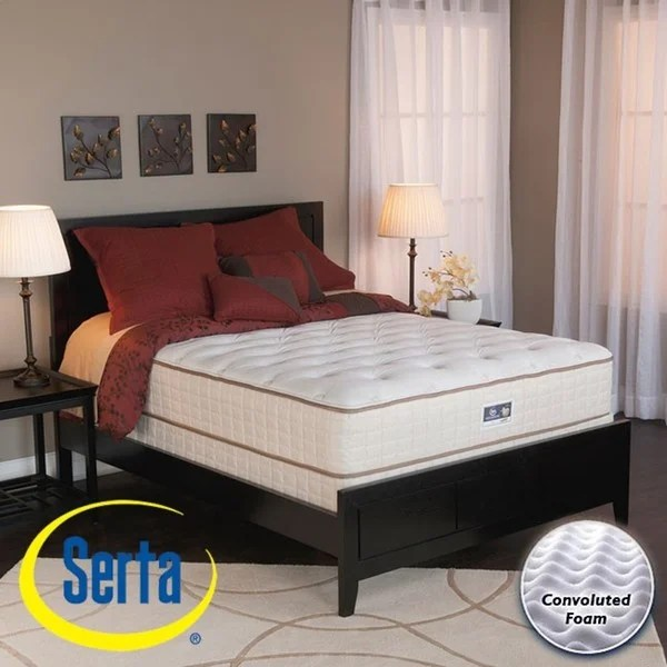 Serta Alleene Plush King Size Mattress And Box Spring Set