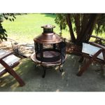 Chiminea Copper Firepit Combo With Screen Overstock 3954925
