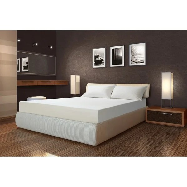 Sarah Peyton 10 Inch Full Size Memory Foam Mattress With Pillows
