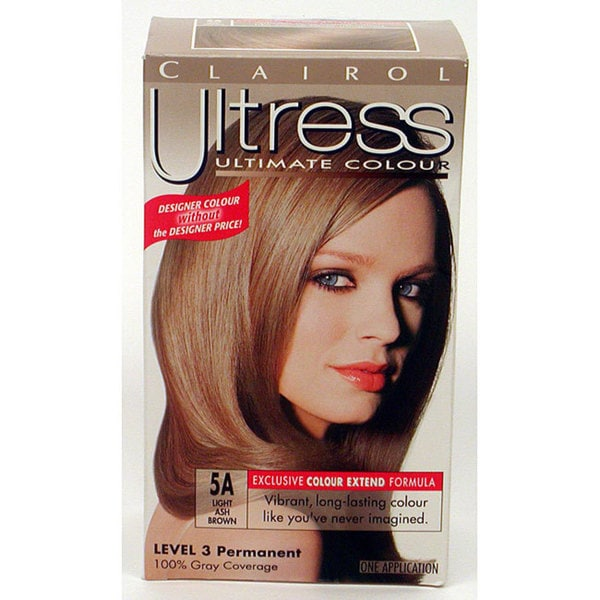 Clairol Ultress 5A Light Ash Brown Hair Color Pack Of 4