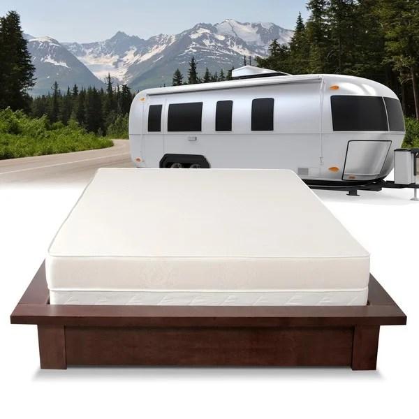 select luxury home rv 6 inch firm flippable short queen size foam white short queen mattress